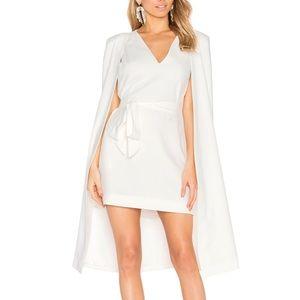 C/MEO Collective White Cape Dress xs